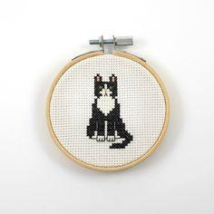 Tuxedo cat cross stitch pattern, cat pdf pattern, animal cross stitch, cat cross stitch, cat lover gift idea, pet cross stitch