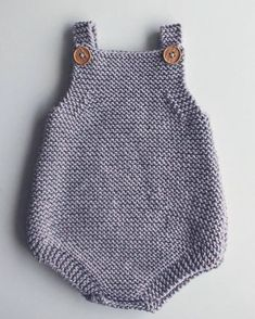Free Knitting Pattern for Easy Baby Romper - Great beginner pattern. The Eve Rom. Free Knitting Pattern for Easy Baby Romper - Great beginner pattern. The Eve Romper is a baby playsuit carefully designe. Beginner Knitting Patterns, Knitting For Kids, Easy Knitting, Knitting For Beginners, Baby Boy Knitting, Baby Knits, Knitting Projects, Crochet Romper, Crochet Baby