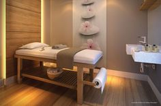 cabinas decoración academiestetic (29) Massage Room Decor, Spa Room Decor, Massage Table, Spa Interior Design, Beauty Salon Interior, Beauty Salon Design, Beauty Salons, Schönheitssalon Design, Design Ideas