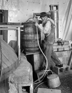 "Marvin ""Popcorn"" Sutton- The last real moonshiner: Don Dudenbostel Moonshine Still Plans, How To Make Moonshine, Appalachian People, White Tractor, Working People, The Good Old Days, Home Brewing, Vintage Photographs, Old Photos"