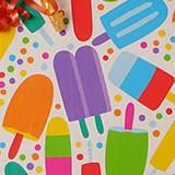 POPSICLES GIFT WRAPPING PAPERS, Popsicle wrapping paper, ice cream social