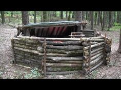 Girl Builds A Super Shelter In The Woods - YouTube