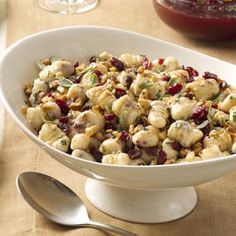 Cranberry Ricotta Gnocchi with Brown Butter Sauce: Gnocchi is something I'd love to try making, and this looks like a yummy holiday version.