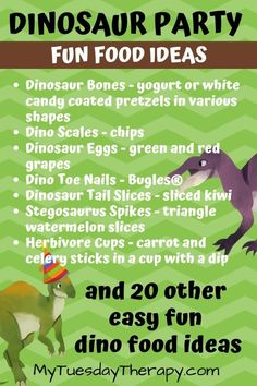 27 Terrific Dinosaur Party Ideas You'll Use Dinosaur party is even more awesome with fun dinosaur party food! Birthday party for boys can't get better than this. Label the dinosaur party food and the food tastes super amazing. Fourth Birthday, 6th Birthday Parties, Elmo Birthday, Birthday Ideas, Dinosaur Birthday Cakes, Dinosaur Party Foods, Dinosaur Themed Food, Dinosaur Party Decorations, Dinosaur Birthday Invitations