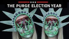 The Purge Lady Liberty Makeup Tutorial  |  THE PURGE MINI SERIES