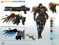 Pharah_Aquila [Overwatch Fan-made Skin] sheetby Taonavi Overwatch Costume, Overwatch Pharah, Video Game Characters, Fantasy Characters, Female Characters, Character Sheet, Character Concept, Overwatch Skin Concepts, Overwatch Wallpapers