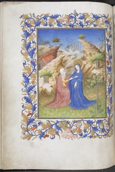 Miniature of the Visitation by the Egerton Master, from 'The Hours of René of Anjou', France (Paris), 15th century, Egerton MS 1070, f. 29v