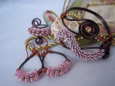 Wire Coil Copper Cuff Bracelet Set by TracysJC on Etsy, $55.00