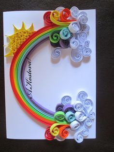 quilling rainbow quilling rainbow Birds # Girl for kids White acacia 🌸 # quilling # quilling flowers # … Paper Quilling Tutorial, Paper Quilling Patterns, Quilled Paper Art, Quilling Paper Craft, Paper Crafts, Diy Quilling Projects, Quilling Work, Origami And Quilling, Diy With Kids