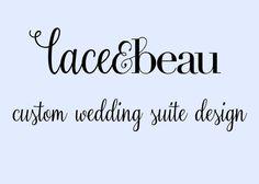 Custom Designed Wedding Suite by LaceAndBeau on Etsy