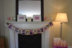 Love the monthly photo collage banner for 1st birthday idea...and beyond!