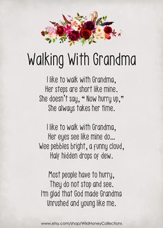 Grandmas Mothers Day Gifts, Mothers Day Poems, Mother Poems, Grandparents Day, Poems About Grandparents, Grandmother Quotes, Poems For Grandma, Quotes Girlfriend, Quotes About Grandchildren