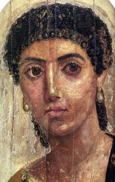 Femme by Faiyum Mummy Portraits Ancient Rome, Ancient History, Art History, Rome Antique, Art Antique, Egyptian Mummies, Egyptian Art, Art Romain, Post Mortem