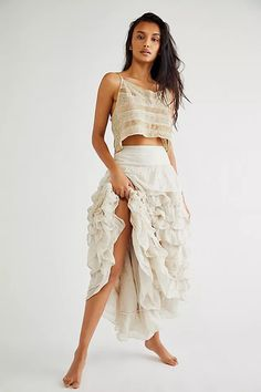Angelique Set | Free People UK Lace Skirt, Lace Dress, Midi Skirt, Magnolia Pearl, Crop Tank, Boho Outfits, Sequin Dress, Dress To Impress, Vintage Inspired