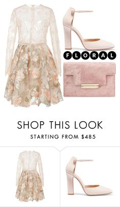"""""""Pastel Floral"""" by cherieaustin ❤ liked on Polyvore featuring Gianvito Rossi"""