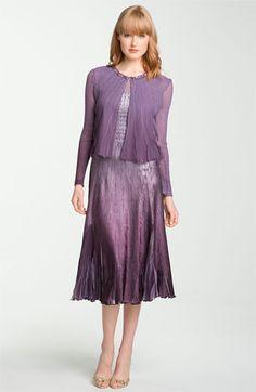 Komarov Ombré Satin Dress with Chiffon Bolero available at Nordstrom