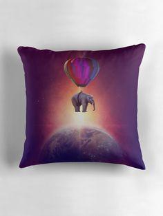 « Elephant Trip by GEN Z » par Gen-Z Elephant, Cushions, Throw Pillows, Purple, Artwork, Artist, Animaux, Toss Pillows, Toss Pillows