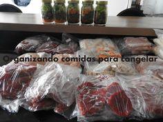 Organizando comidas para congelar