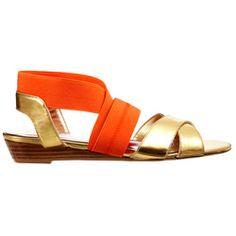 Paris Hilton Tangerine Sandals