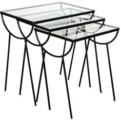 39 best collecting under 2k images on pinterest pierre cardin Hippie Interior Decor set of three arbuck indoor outdoor nesting tables