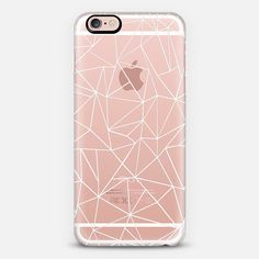 Abstraction Outline White Transparent - Classic Snap Case