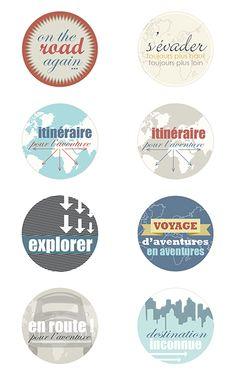 Etiquettes gratuites coordonnées Itinéraire Bis Printable Labels, Printable Paper, Free Printables, Paper Tags, Diy Paper, Photo Album Scrapbooking, Digital Scrapbooking, Travel Scrapbook, Scrapbook Cards