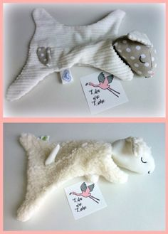 """Schäfchen Kuscheltuch sew """"Sage and Johanna"""" free instructions and sewing patterns - sewing FREEbook Kuscheltuch * sewn easily and quickly - sweet as sugar - great baby gift *. Small Sewing Projects, Sewing For Kids, Sewing Crafts, Baby Toys, Kids Toys, Sock Dolls, Sock Animals, Love Is Free, Sewing Accessories"""