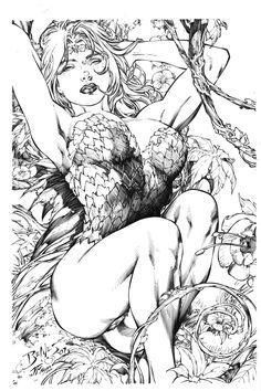 Poison Ivy on Ed Benes Lines by JPMayer.deviantart.com