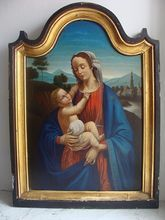 Antique oil painting,19th century, get more information on:    www.rubylane.com/shops/chateau