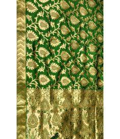 Green Banarasi Katan Silk Handloom Saree