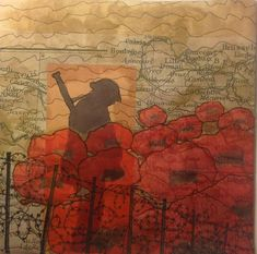 Poppies - Sabi Westoby Poppies London, Contemporary Quilts, Small Quilts, World War, Display, Poppy, Blog, Painting, Modern