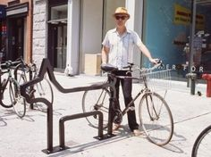 Funky bicycle racks in NYC make the commute that much more enjoyable! Naked Living - Green Transport