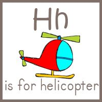 Hhhelicopter lettersound preschool