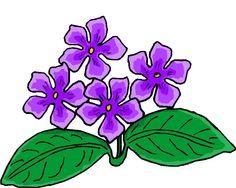 flores lilas em desenho - Pesquisa Google