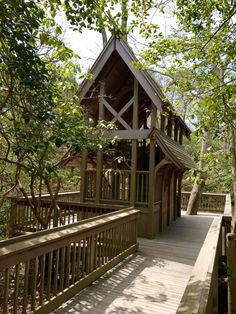 The two-story wooden structure was designed and built by local carpentry students, and climbing to the top will give you an incredible view of the little valley.