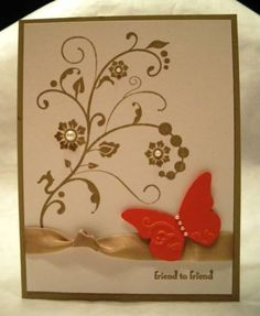 Butterfly Flourish by BeckyG3 - Cards and Paper Crafts at Splitcoaststampers