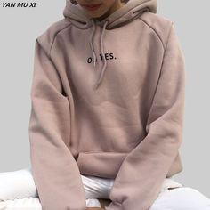 Cheap womens hooded sweatshirt, Buy Quality fashion sweatshirt directly from China sweatshirt fashion Suppliers: OH YES2017 New Fashion Corduroy Long sleeves Letter Harajuku Print Girl Light pink Pullovers Tops O-neck Woman Hooded sweatshirt