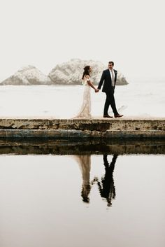 So stunned by the natural backdrop for this couple's wedding portrait | Image by Little Boat Photography #wedding #weddinginspiration #weddingportrait #coupleportrait #elopement #elopementinspiration #bride #bridalinspiration #bridalfashion #bridalstyle #groom #groominspiration #groomstyle #groomfashion #weddingdress #weddinggown #bridalgown