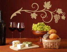 Wine Vine - Wall Decals / Wall Tattoo - VINES - FLORAL