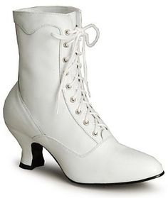 cir.1988 Lace-Up White Granny Boots (didn't think this at the time, but they look like roller skates!)
