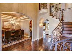 An exquisite entry way and staircase. Tulsa, OK Coldwell Banker Select $1,250,000