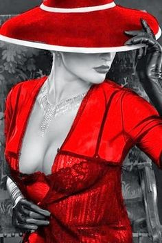 Black and White Photography of Women: How Take Beautiful Pictures – Black and White Photography Splash Photography, Photography Women, Black And White Photography, Color Splash, Color Pop, Red Hats, Black And White Colour, Woman Painting, Lady In Red