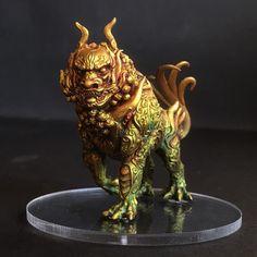 Dragon Miniatures, Fantasy Miniatures, Rising Sun Board Game, Dungeons And Dragons Figures, Sun Painting, Dragon Artwork, Warhammer Fantasy, Mini Paintings, Geek Art