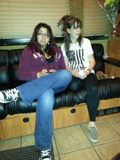 We hung out on the bus after the show in NYC  Sep 28, 2012  #LindseyStirling