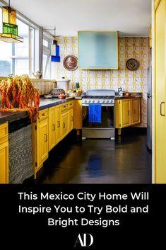Color and pattern are key for AD100 designer Rodman Primack's kitchen.