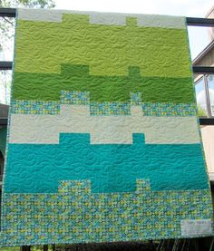 Simple and interesting ... great colors Modern Quilt Relish