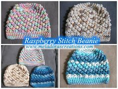 Meladoras Creation  |  Raspberry Stitch Beanie - Free Crochet Pattern