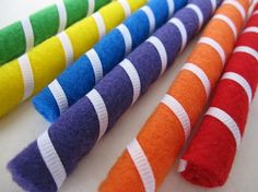 Spring Clean SALE  Sewn Sweets Retro Rainbow Candy by smollerup, $4.00