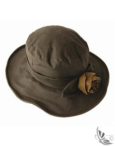 029a613078a Barbour Ladies  Waxed Hat With Rose - Olive LHA0010OL71 Barbour Hats