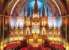Notre-Dame Basilica of Montréal-Dame Basilica - Basilique Notre-Dame: The oldest catholic church in North America built in A magnificent cathedral with an intricately designed interior including stained glass chronicling the history of the City. Church Architecture, Beautiful Architecture, Beautiful Buildings, Revival Architecture, Old Catholic Church, Roman Catholic, Catholic Churches, Cathedral Basilica, Cathedral Church